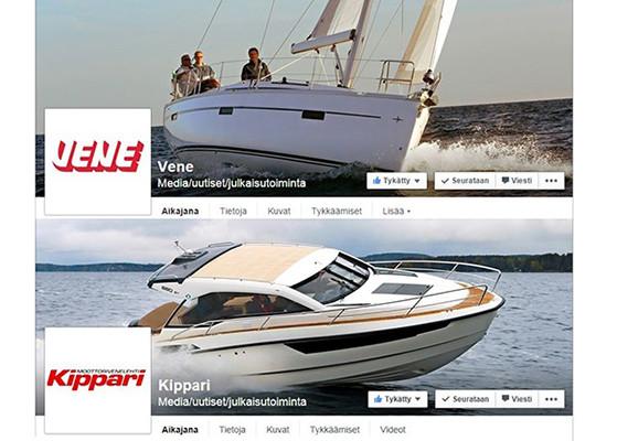 Vene- ja Kippari-lehdet nyt myös Facebookissa