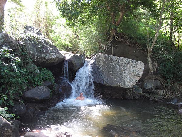 Vallilaboun suihkussa