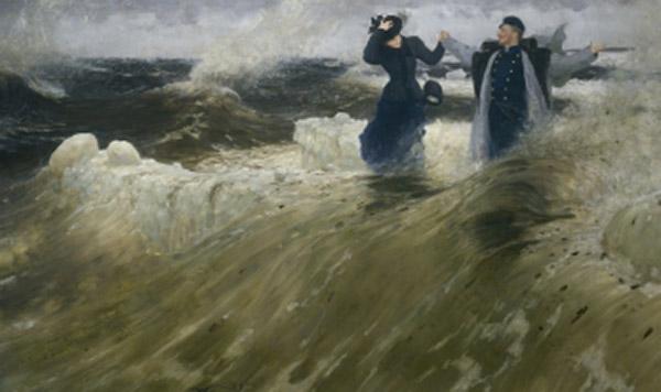 Ilja Repin: Eläköön vapaus! 1903. Pietarin Venäläisen museon kokoelmat.