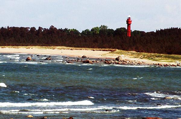 Ristnan majakan ylätasanteelta avautuvat näkymät Suomenlahdelle.