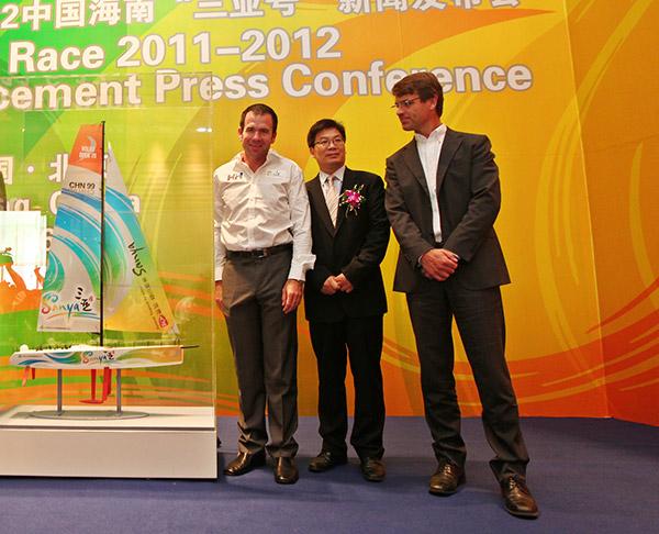 vas. Mike Sanderson, Volvo Cars Chinan CEO Tong Zhiyuan, Volvo Ocean Racen CEO Knut Frostad.
