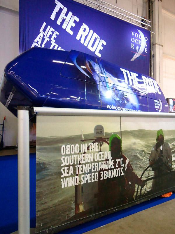 Volvo Ocean race -simulaattori tarjoaa erikoisen messuelämyksen